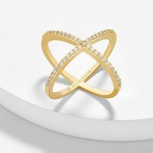 Baublebar Crystal Mason Ring Size 7 Gold